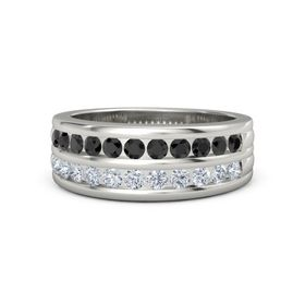 pics for gt platinum rings for men with black diamonds