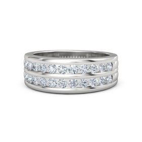 Men's Sterling Silver Ring with Diamond