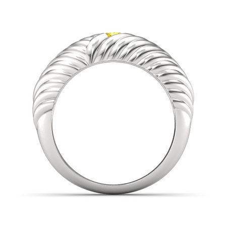 Braided Ring (4mm gem)