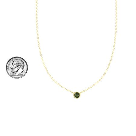 Gemstones by the Yard Solitaire Necklace (4.5mm gem)