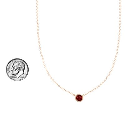 Gemstones by the Yard Solitaire Necklace (5mm gem)