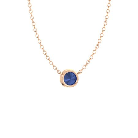 Gemstones By The Yard Solitaire Necklace (6.5mm gem)