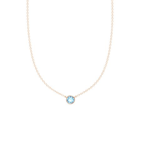 Gemstones By The Yard Solitaire Necklace (6mm gem)