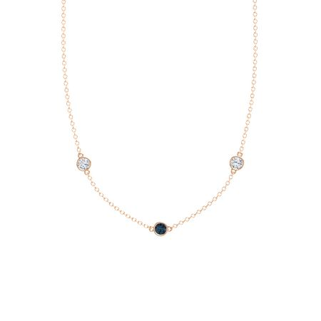 Gemstones By The Yard 3-Stone Necklace