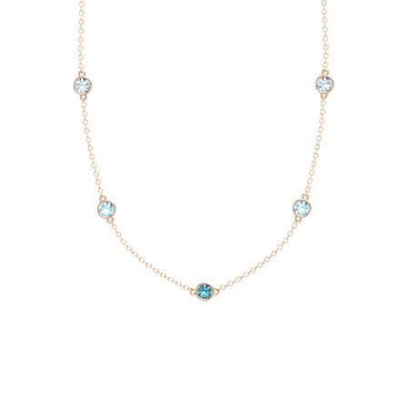 Gemstones By The Yard 5-Stone Necklace