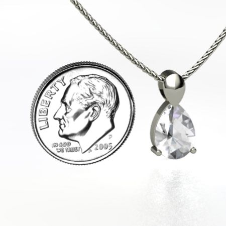 Large Pear Solitaire Pendant