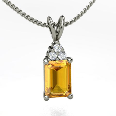 Brilliant Emerald-Cut Solitaire Pendant