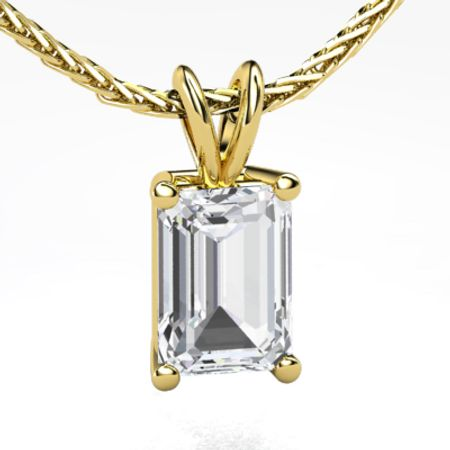 Emerald-Cut Solitaire Pendant