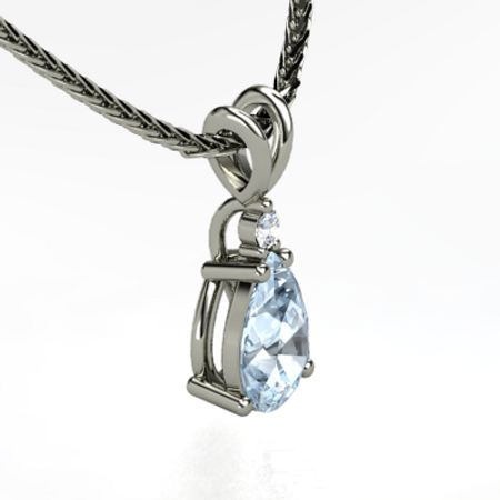 Brilliant Pear Solitaire Pendant