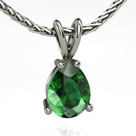 Pear-Shape Solitaire Pendant