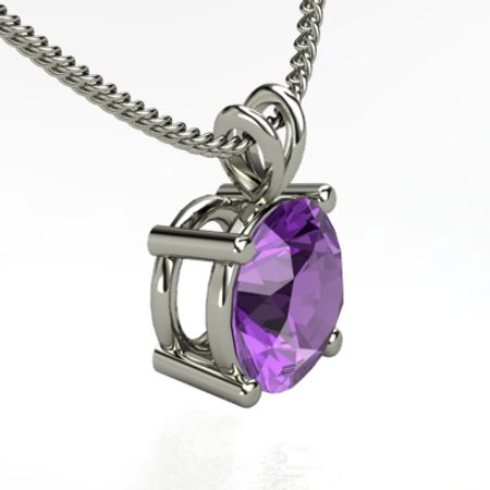 Large Gemstone Solitaire Pendant