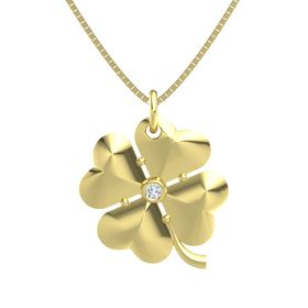 14K Yellow Gold Pendant with Diamond