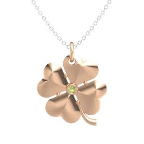 18K Rose Gold Pendant with Peridot