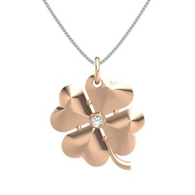 18K Rose Gold Pendant with Aquamarine