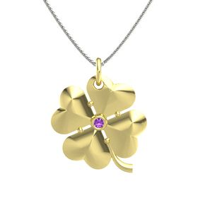 18K Yellow Gold Necklace with Amethyst