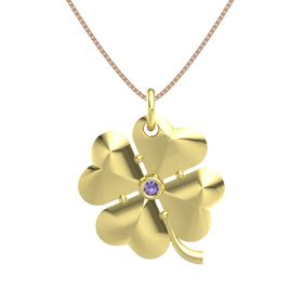 18K Yellow Gold Pendant with Iolite