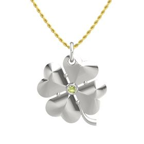 Platinum Pendant with Peridot