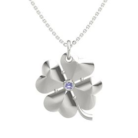 Platinum Pendant with Tanzanite
