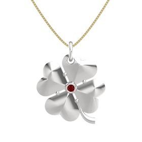 Sterling Silver Pendant with Ruby