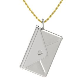 14K White Gold Pendant