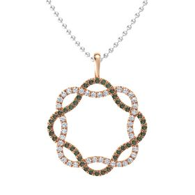 14K Rose Gold Necklace with Alexandrite & Diamond