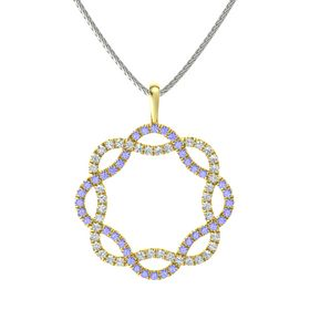 14K Yellow Gold Necklace with Tanzanite & Diamond