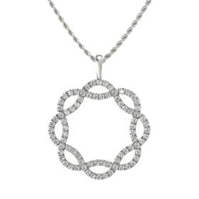 Palladium Necklace with Rock Crystal