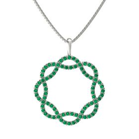 Palladium Necklace with Emerald