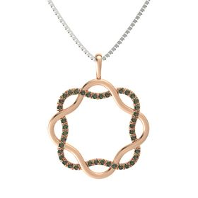 18K Rose Gold Necklace with Alexandrite
