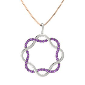 Platinum Necklace with Amethyst