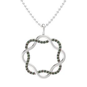 Sterling Silver Necklace with Alexandrite