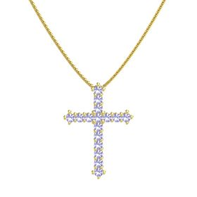 14K Yellow Gold Necklace with Tanzanite