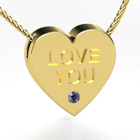 Love You Candy Heart Necklace