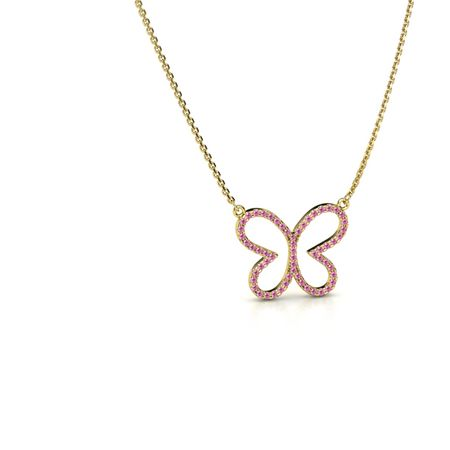 Petite Pave Butterfly Pendant