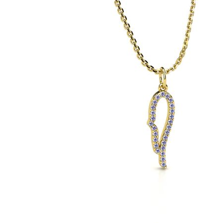 Petite Pave Angel's Wing Pendant