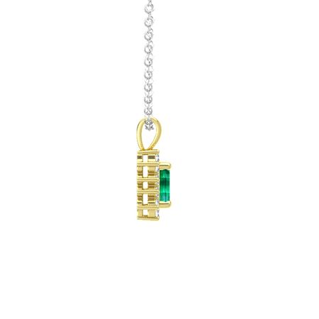 Emerald-Cut Halo Pendant