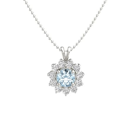 in com sapphire pendant white round aa gold amazon ct dp necklace solitaire mm