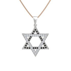 Sterling Silver Pendant with Black Diamond and Diamond