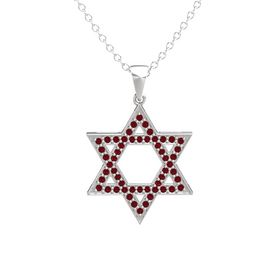 Sterling Silver Necklace with Ruby