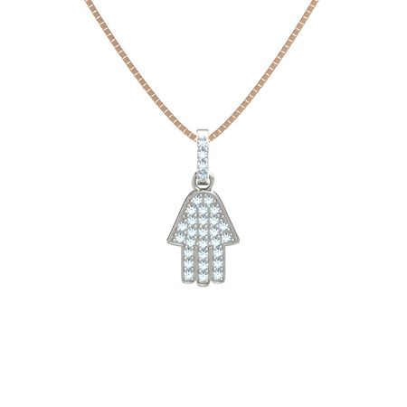 necklace aquamarine with jewelry platinum hamsa whgxt pendant