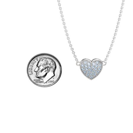 Brilliant Pave Heart Pendant