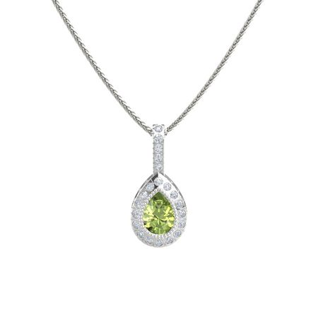 Pear-Cut Halo Pendant