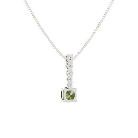 Cushion-Cut Cascade Pendant