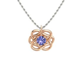 Round Tanzanite 14K Rose Gold Pendant