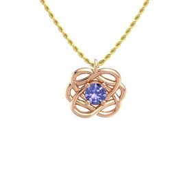 Round Tanzanite 18K Rose Gold Pendant