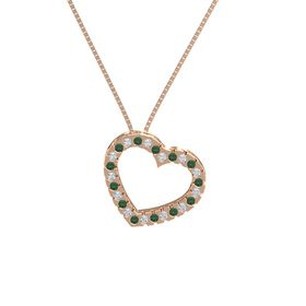 14K Rose Gold Necklace with Diamond & Alexandrite