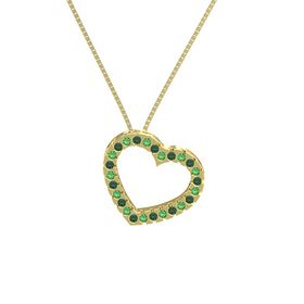 14K Yellow Gold Pendant with Emerald and Alexandrite