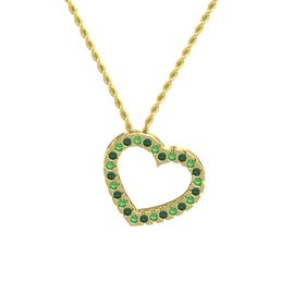 14K Yellow Gold Necklace with Alexandrite & Emerald