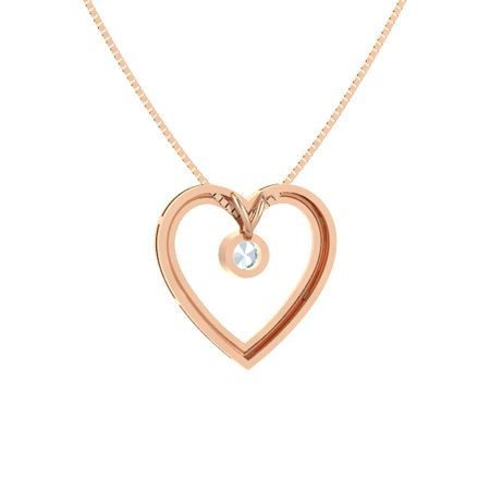 Round aquamarine 14k rose gold necklace inside my heart pendant inside my heart pendant aloadofball Gallery