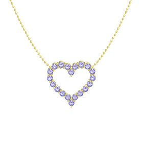 14K Yellow Gold Necklace with Iolite